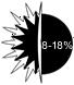 8-18 percent