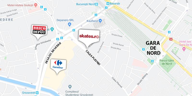 Locatie magazin Skates.ro
